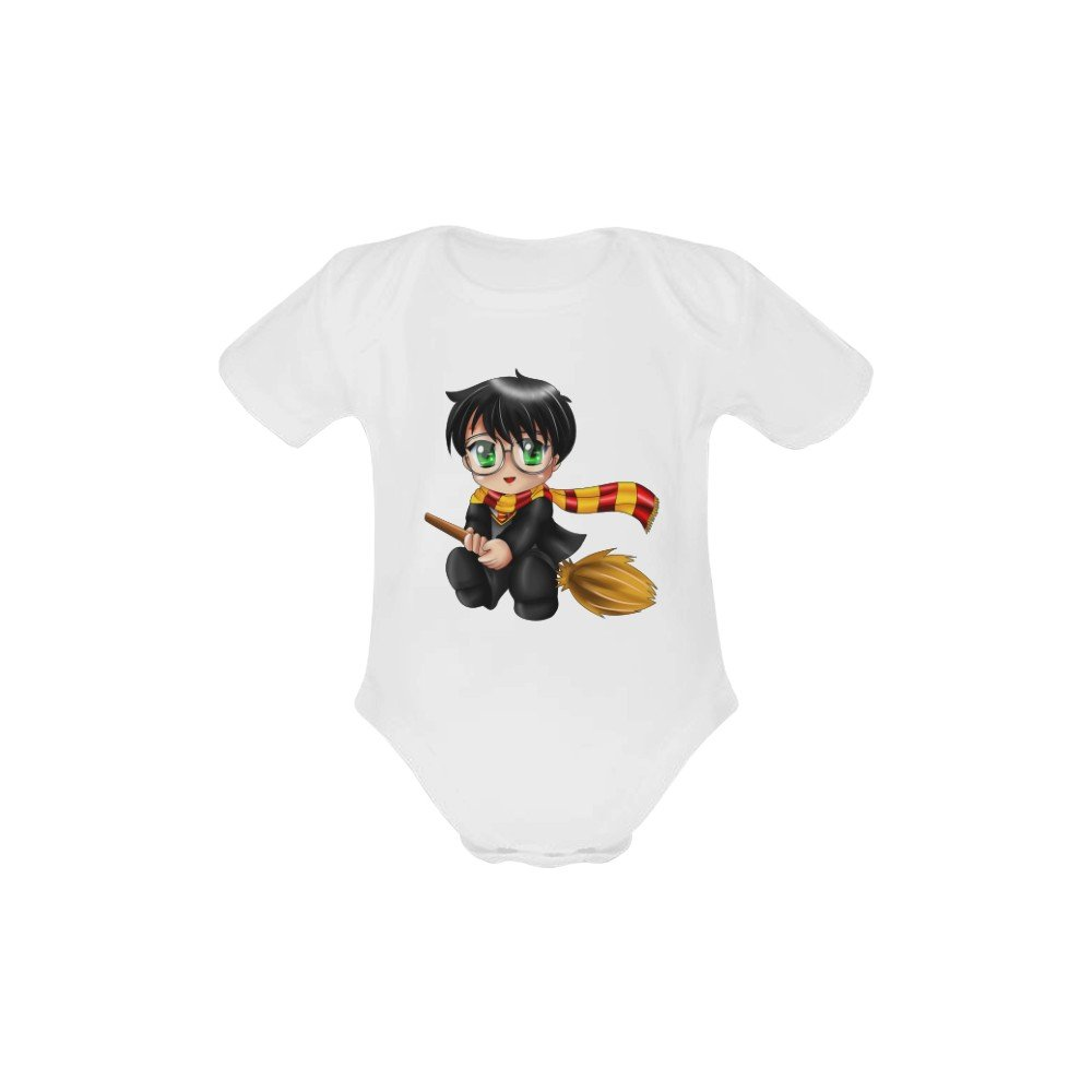12 Months Chibi Harry Potter Baby Creeper Short Sleeve One Piece