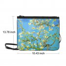 "Almond Branches in Bloom Van Gogh Nylon Slim Clutch Bag 10.43""(L) x 13.78"" (H)"