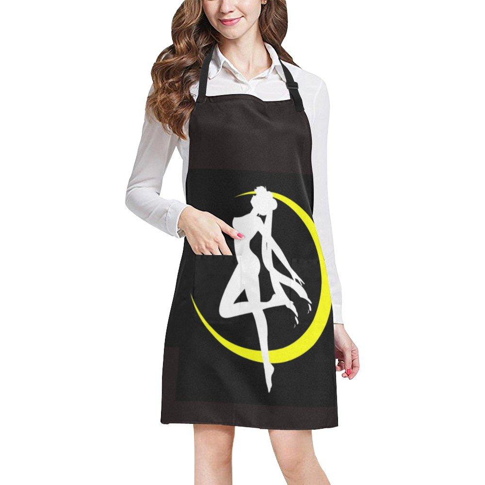Sailor Moon Silhouette Full Print Apron BBQ Kitchen Cooking with Style