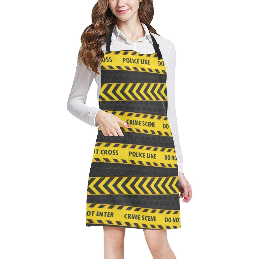 Police Line Crime Scene Do Not Enter Full Print Apron BBQ Kitchen Cooking with Style