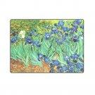"Irises Flower Van Gogh One Layer Fleece Blanket (Large) 58""x80"""