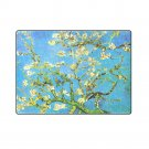 "Almond Branches in Bloom Van Gogh 'One Layer' Fleece Blanket (Large) 58""x80"""