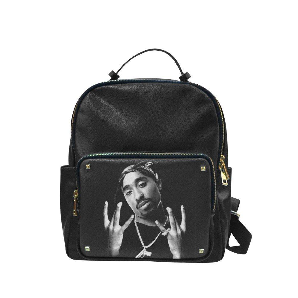 Tupac 2pac The Rapper Leisure Backpack Bag School Bag (Big)