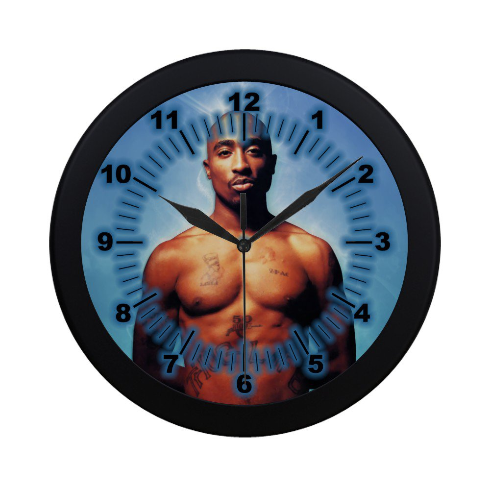 Tupac 2pac The Rapper Black Wall Clock