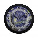 Starry Night Tardis Police Box Black Wall Clock