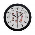 BTS Korean Black Wall Clock