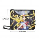"Sailor Moon Crystal Anime Manga Nylon Slim Clutch Bag 10.43""(L) x 13.78"" (H)"