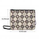 "Batik Design Nylon Slim Clutch Bag 10.43""(L) x 13.78"" (H)"