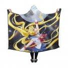"Sailor Moon Crsytal Anime Manga Hooded Blanket 60"" x 50"""