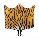 """Tiger Stripes Hooded Blanket 60"""" x 50"""""""