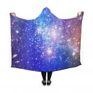 "Galaxy Universe Space Stars Hooded Blanket 60"" x 50"""