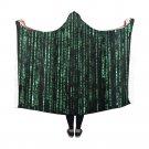 "Matrix Computer Coding Hooded Blanket 60"" x 50"""