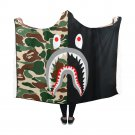 "Shark Camo Hooded Blanket 60"" x 50"""