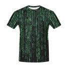 US SIZE L - Matrix Computer Coding Programming Men's Full Print T-Shirt Tee