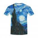 US SIZE L - Starry Night Van Gogh Men's Full Print T-Shirt Tee