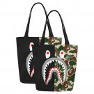 Set of TWO Shark Camo Canvas Tote Bag Two Sides Printing