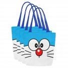 Set of FOUR Doraemon Canvas Tote Bag Two Sides Printing