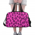 Pink Leopard Tote and Cross Body Travel Bag