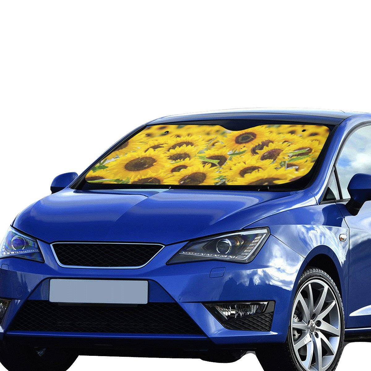 "Sunflower Flower Floral Car Auto Sun Shade Windshield 55"" x 29.53"""