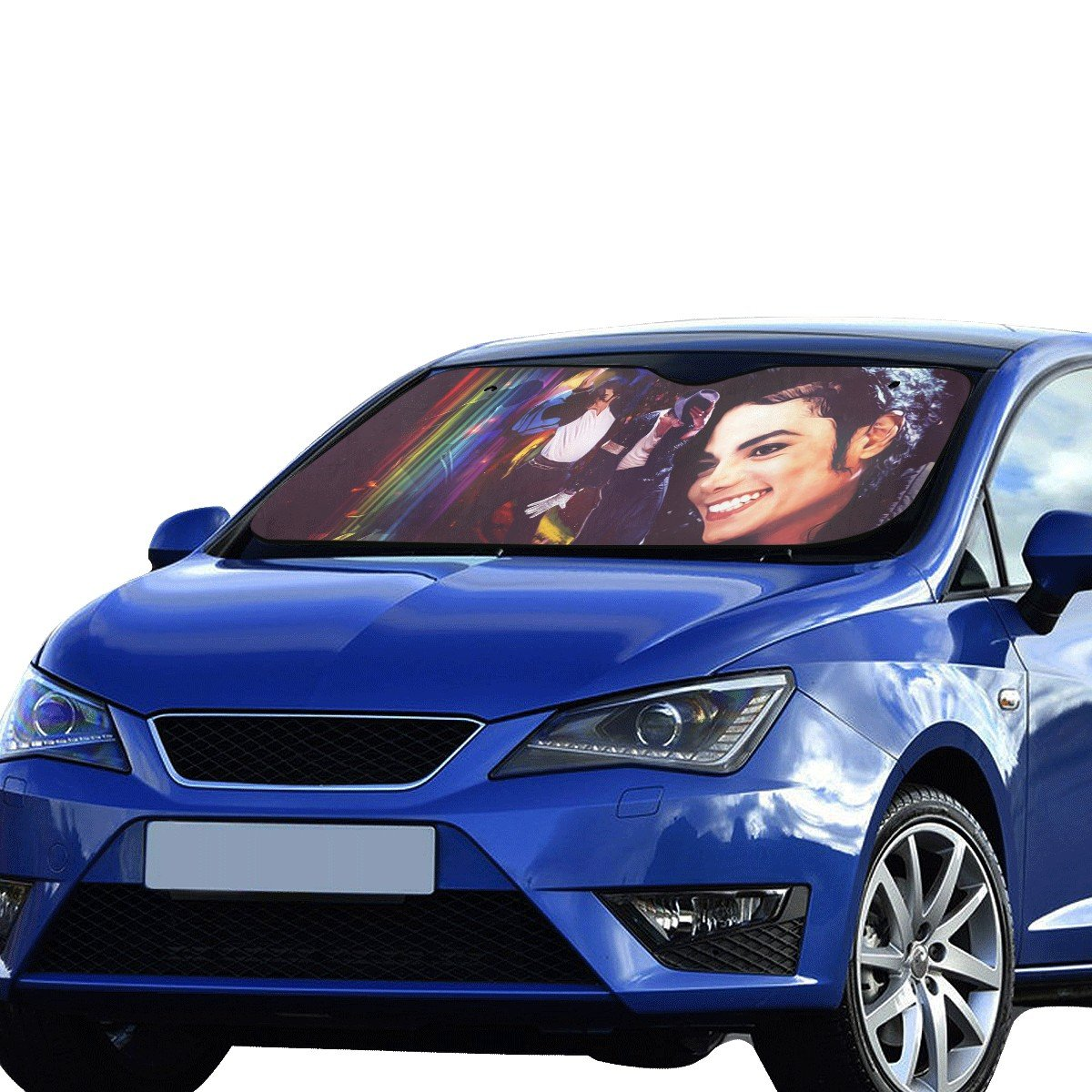 "Michael Jackson Car Auto Sun Shade Windshield 55"" x 29.53"""