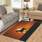 "Horse Silhouette at Sunset Area Rug size 60""x 39"""