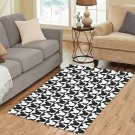 "Mickey Black and White Area Rug size 60""x 39"""