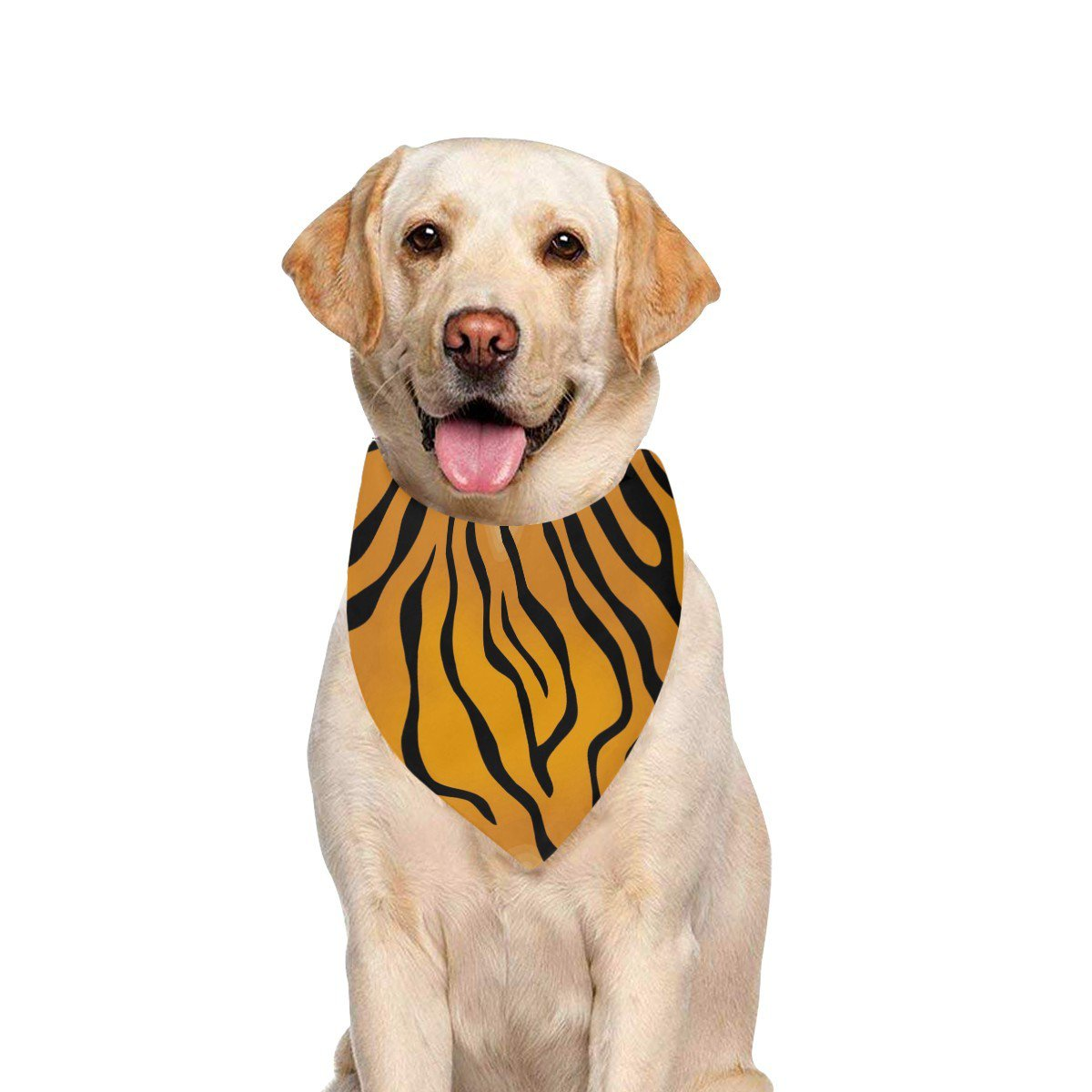 Tiger Stripes Animal Pattern Pet Dog Bandana (Large Size)