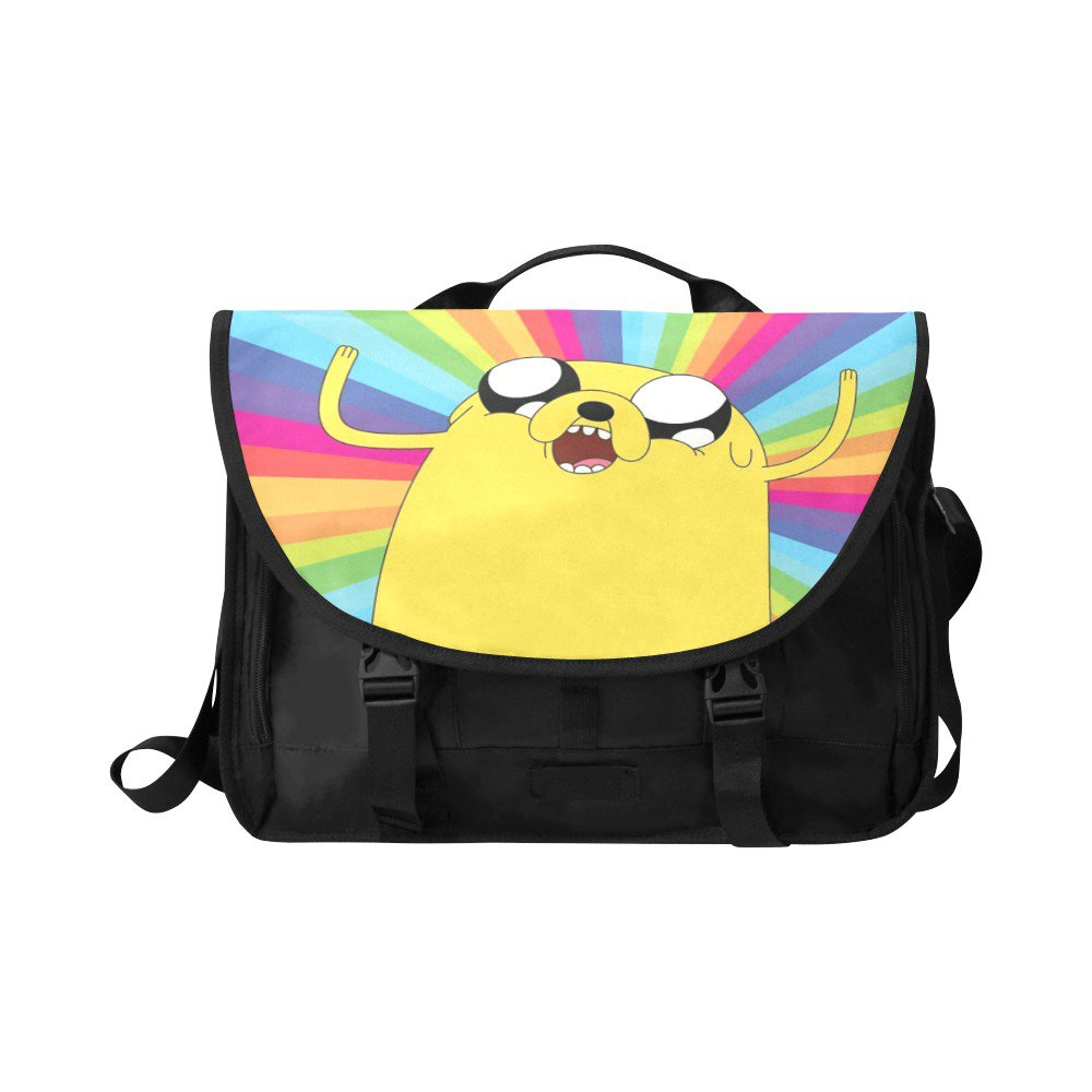 "Jake The Dog Adventure Time Messenger Laptop Bag up to 15"" Fits the Essentials too"
