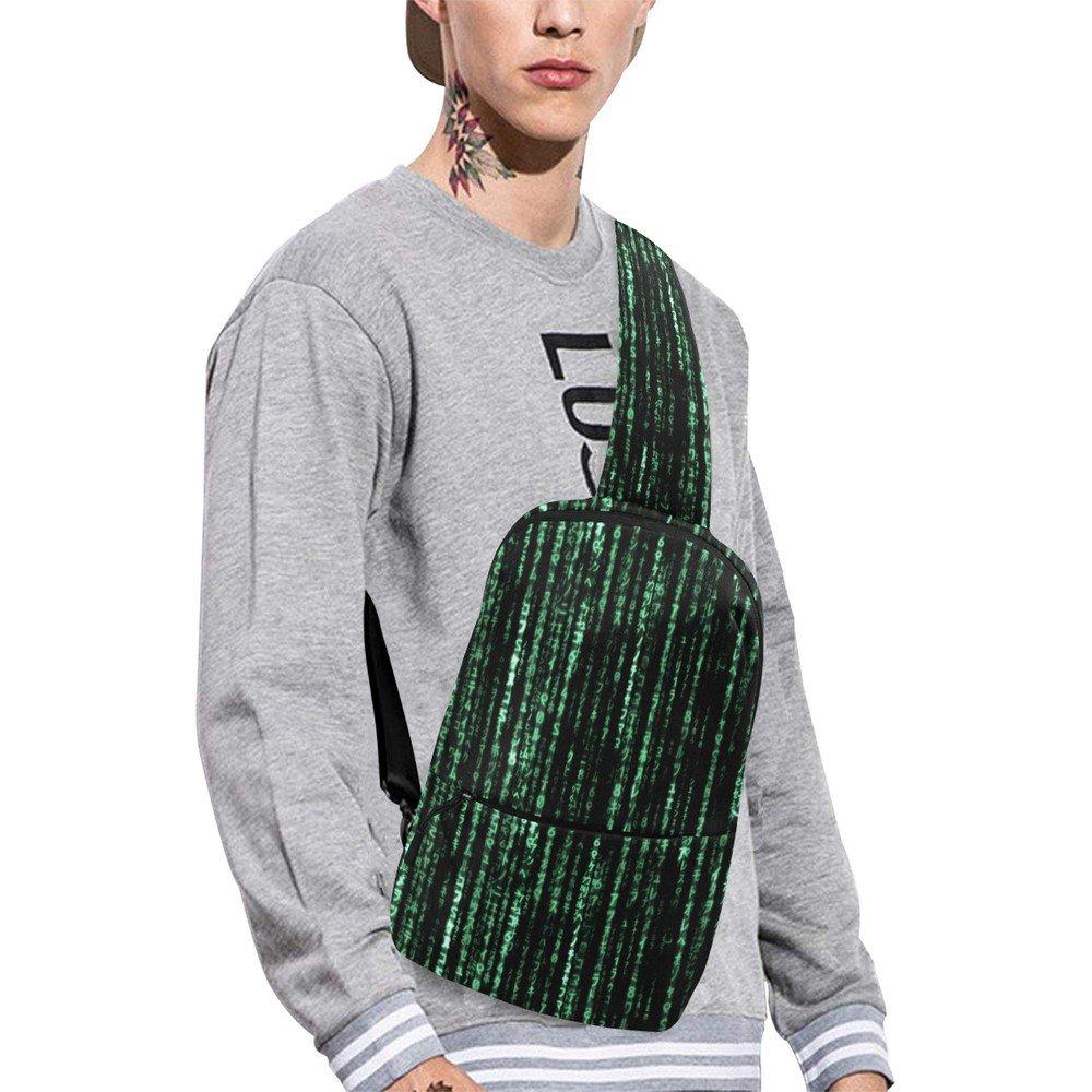 Matrix Computer Coding Crossbody Chest Bag Sling Bag Shoulder Backpack Casual