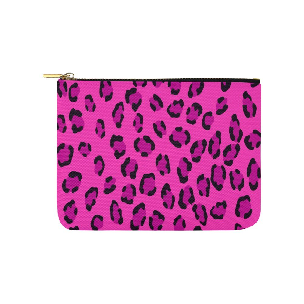 Size M - Pink Leopard Carry All Pouch Wallet