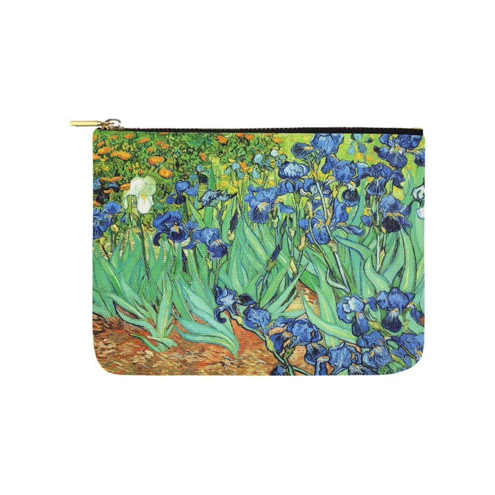 Size M - Irises Van Gogh Carry All Pouch Wallet