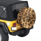 Leopard Fur Print Animal Pattern Spare Tire Cover Diameter 34""