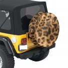 Leopard Fur Print Animal Pattern Spare Tire Cover Diameter 30""