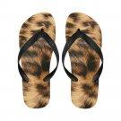 Size XL Leopard Fur Printing Adult Unisex Flip Flop Slippers