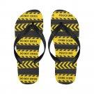 Size XL Crime Scene Do Not Enter Police Line Adult Unisex Flip Flop Slippers