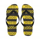 Size M Crime Scene Do Not Enter Police Line Adult Unisex Flip Flop Slippers