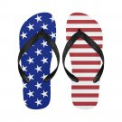 Size S USA United States Flag Adult Unisex Flip Flop Slippers