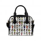 Michael Jackson Chibi Cartoon PU Leather Shoulder Handbag Bag