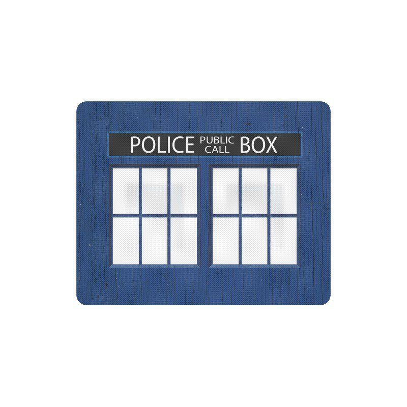 Police Box Tardis Window Rectangle Mousepad Non Slip Neoprene