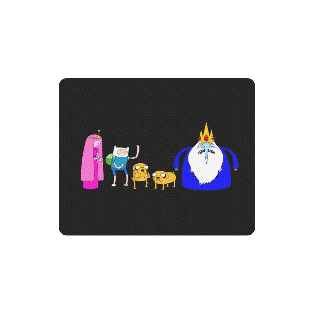 Adventure Time Cartoon Rectangle Mousepad Non Slip Neoprene
