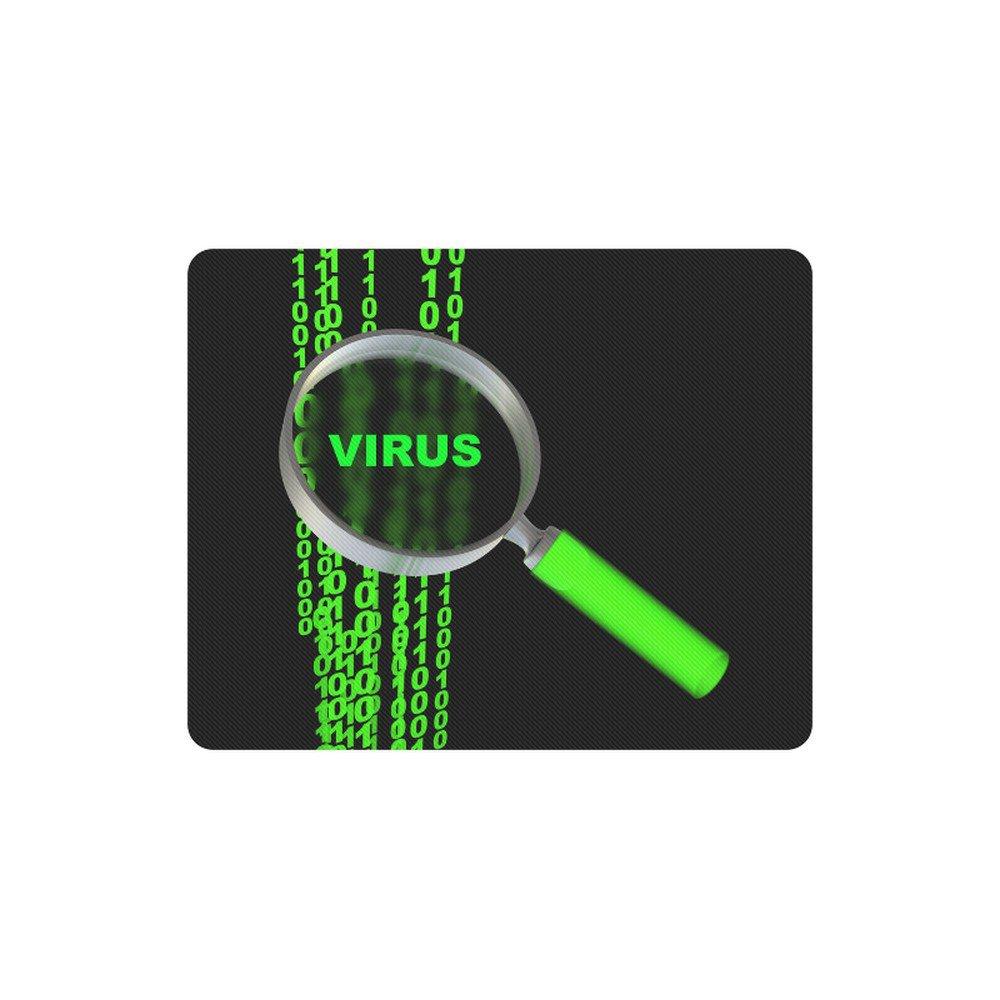 Virus Detective Programmer Rectangle Mousepad Non Slip Neoprene
