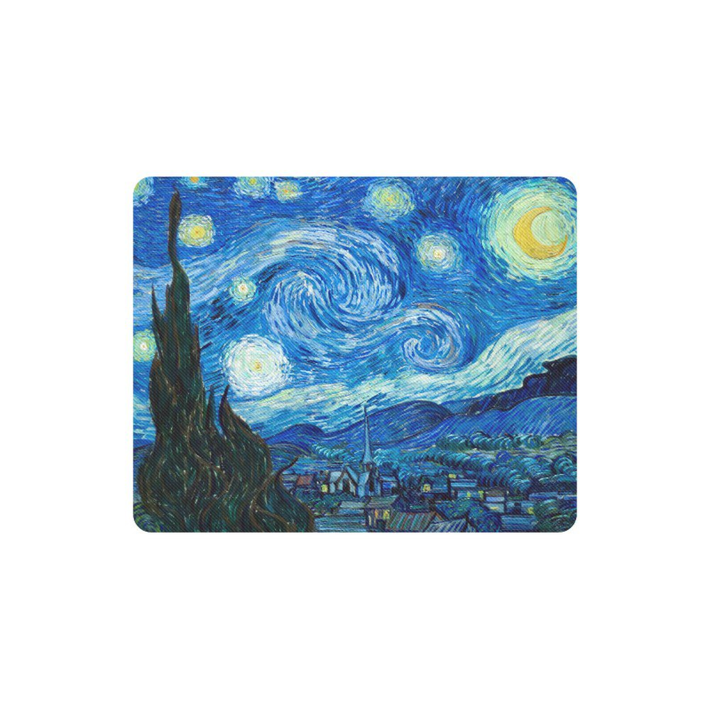 Starry Night Van Gogh Rectangle Mousepad Non Slip Neoprene