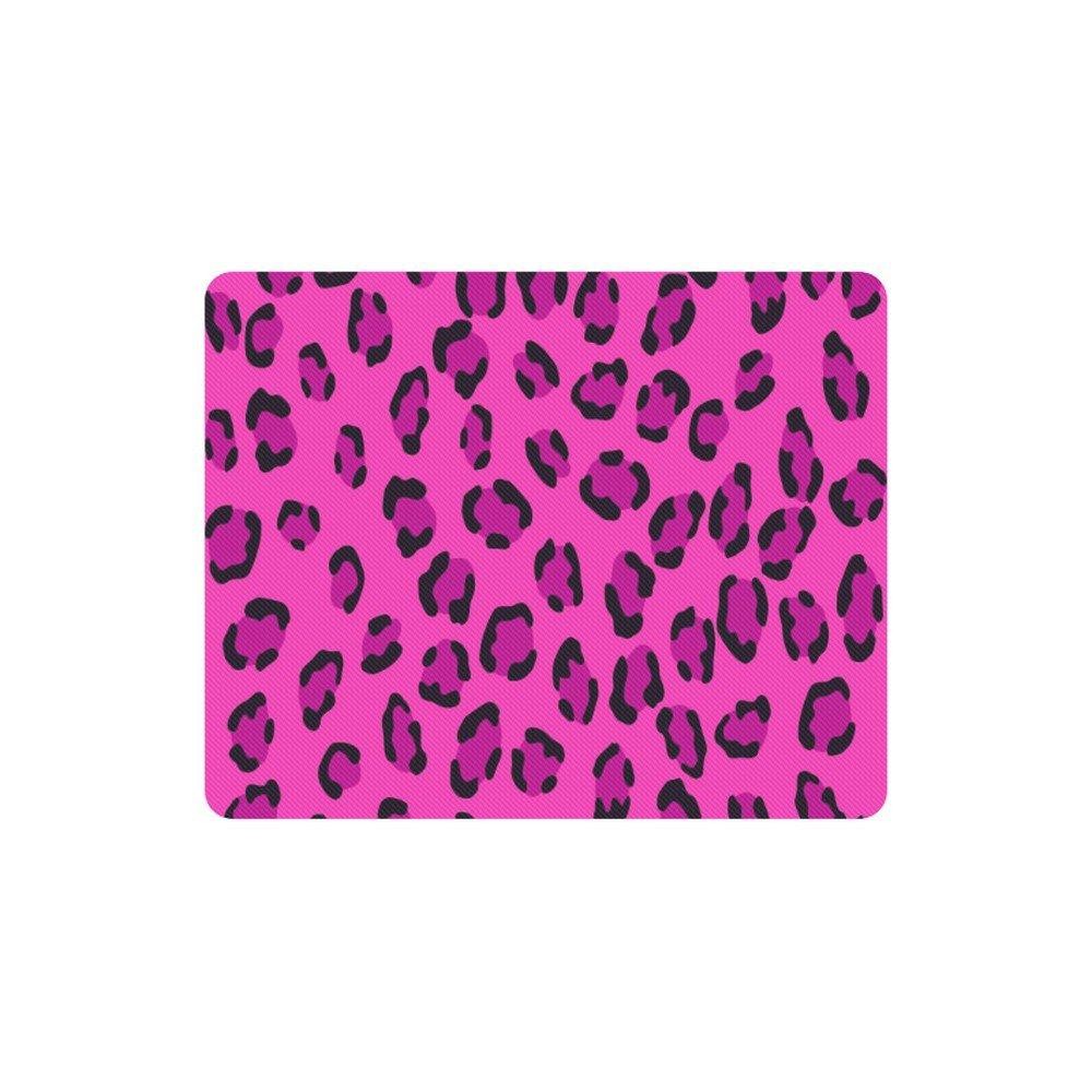 Pink Leopard Pattern Rectangle Mousepad Non Slip Neoprene