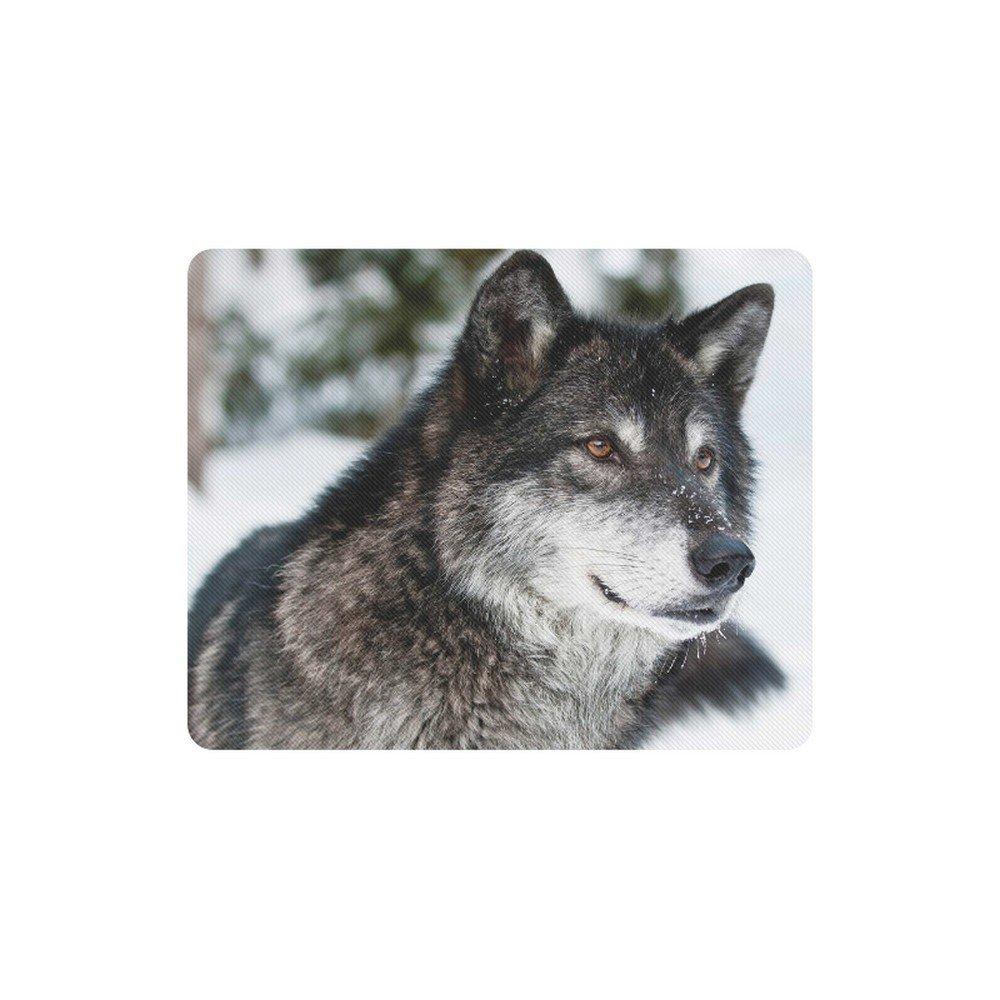 Wolf Gray Rectangle Mousepad Non Slip Neoprene
