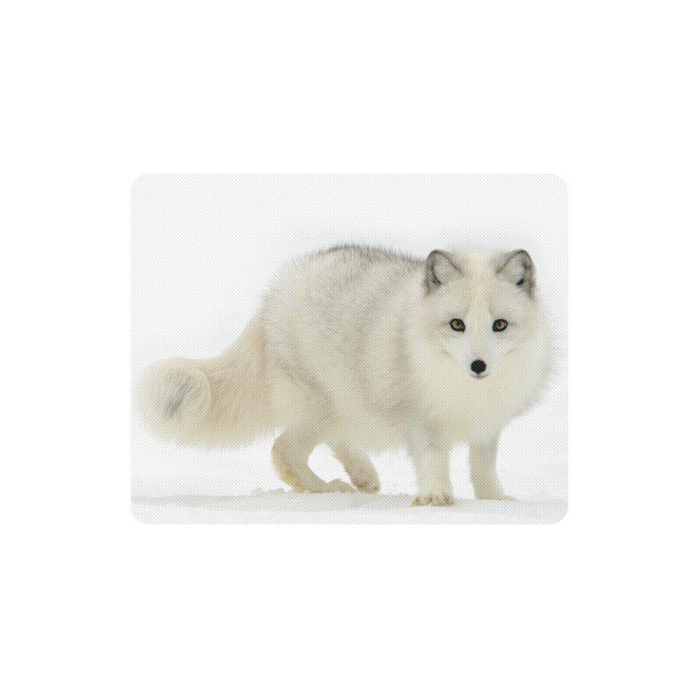 Winter Arctic Fox Rectangle Mousepad Non Slip Neoprene