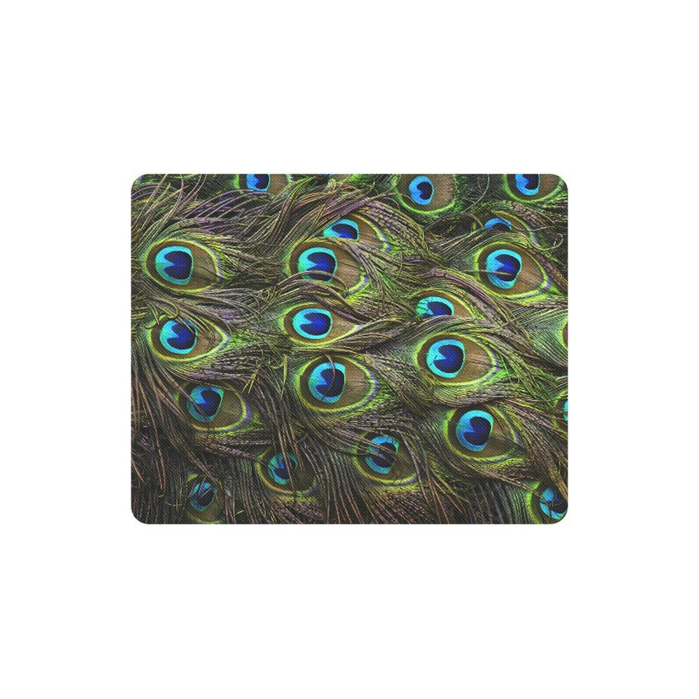 Peacock Fur Printing Rectangle Mousepad Non Slip Neoprene
