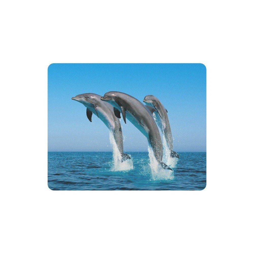 Dolphin Jumping on the Ocean Rectangle Mousepad Non Slip Neoprene