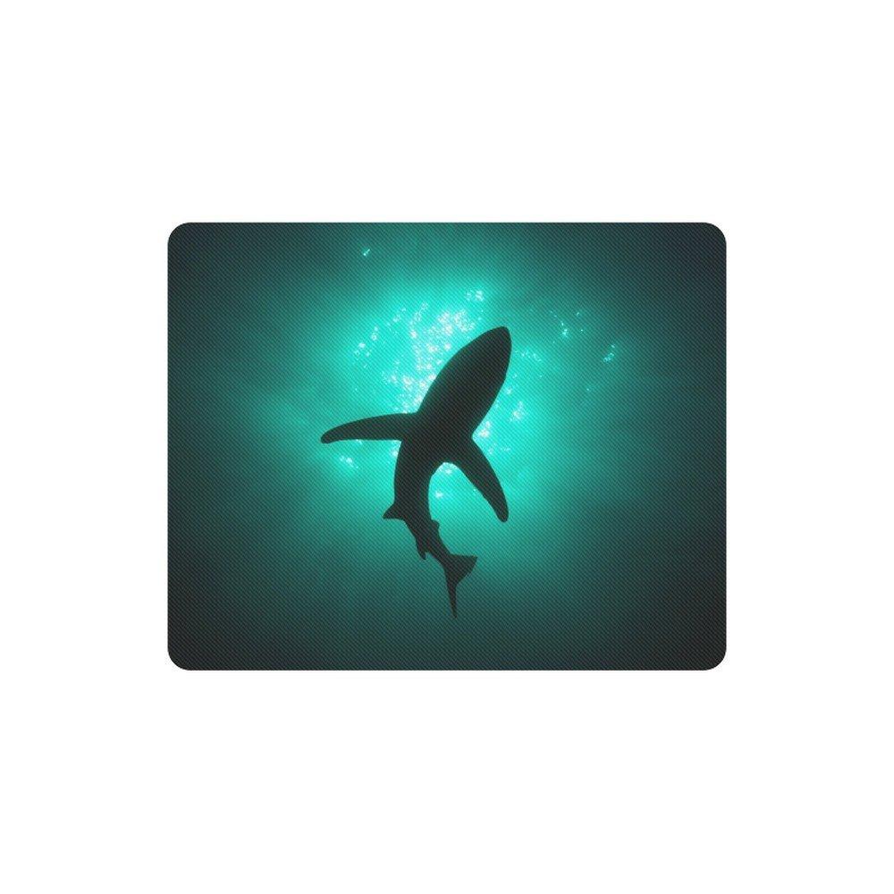 Shark Silhouette Rectangle Mousepad Non Slip Neoprene