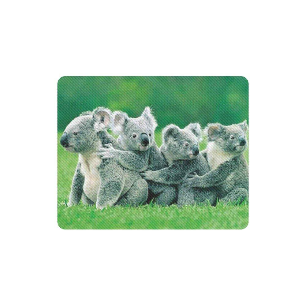Koala Family Rectangle Mousepad Non Slip Neoprene