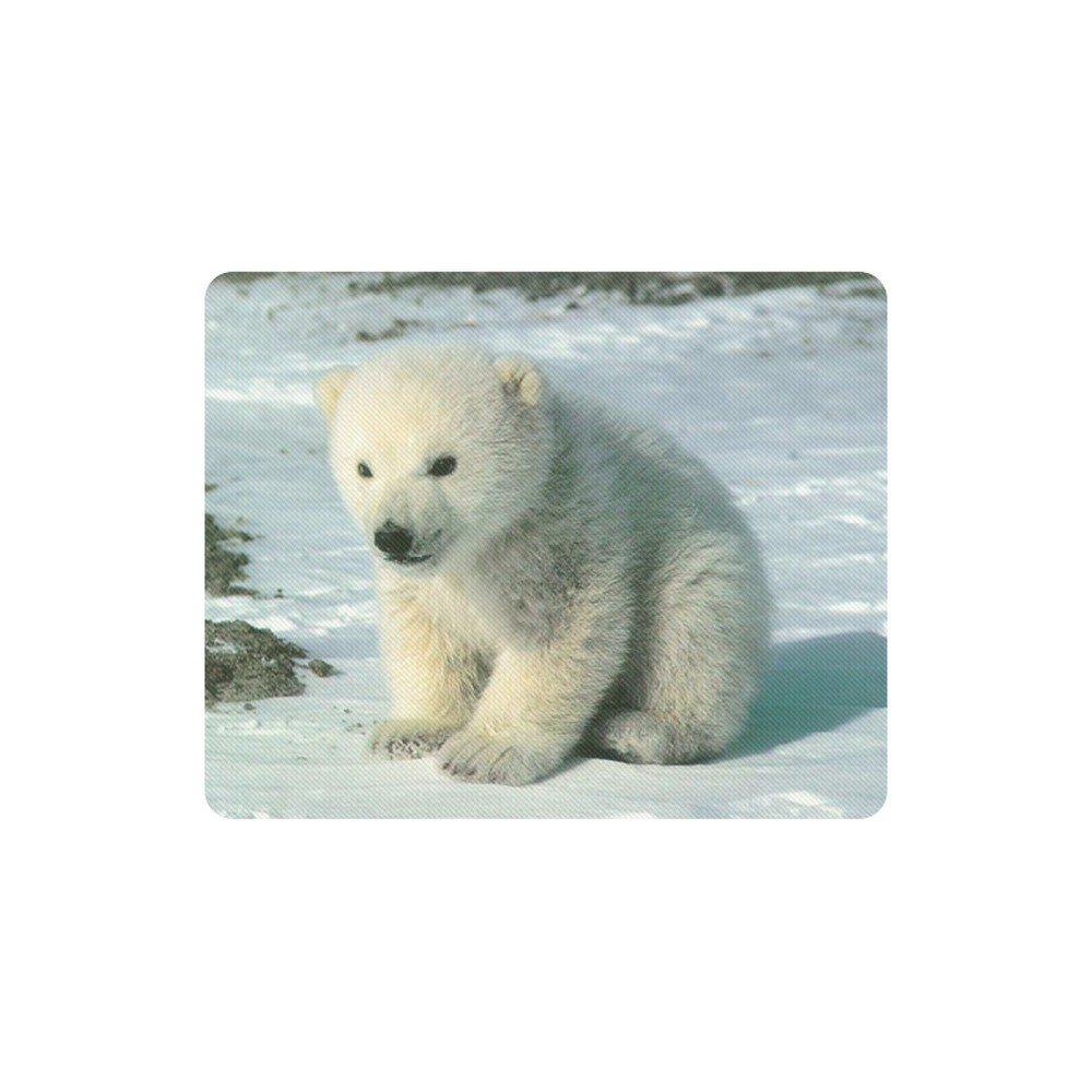 Baby Polar Bear Rectangle Mousepad Non Slip Neoprene